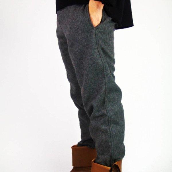 Woolen trousers, grey