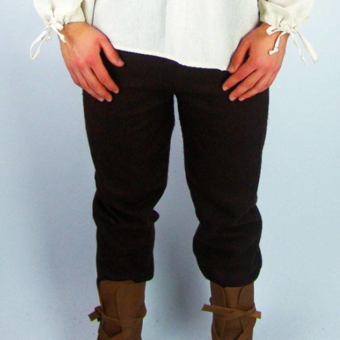 Leonardo Carbone Wełniane spodnie, brązowe