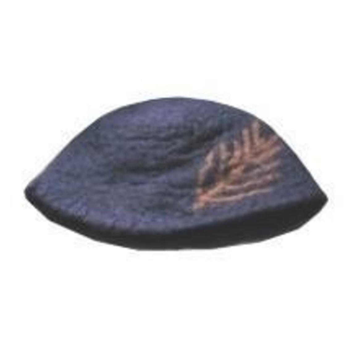 Leonardo Carbone Sombrero con pluma, negro