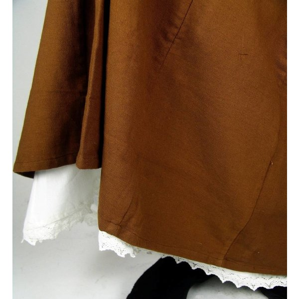 Apron with lace, black
