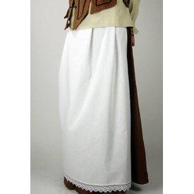 Förkläde med spets, vit