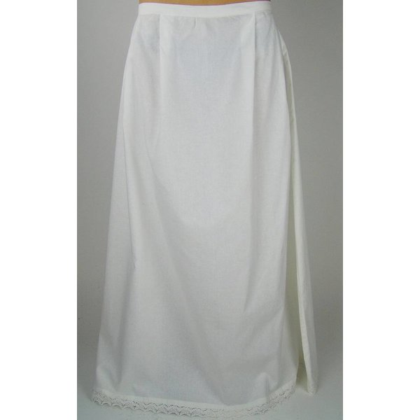 Apron with lace, white