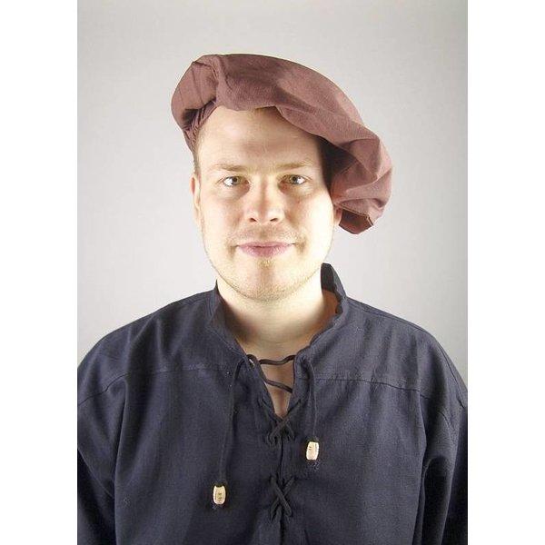 Cotton beret, brown