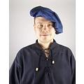 Leonardo Carbone Katoenen baret, blauw
