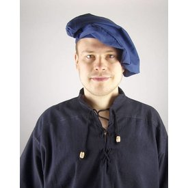 Katoenen baret, blauw