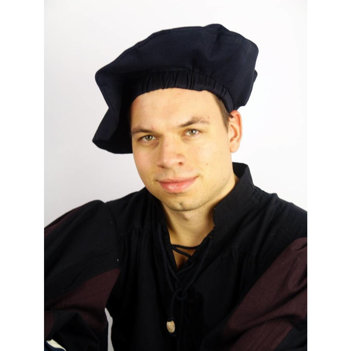 Leonardo Carbone Katoenen baret, crème