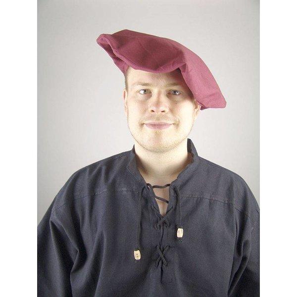 Katoenen baret, rood