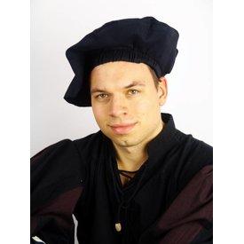 Baumwolle Baskenmütze, schwarz