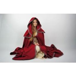Gestickte Mantel Lyra, rot