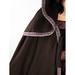 Embroidered cloak Lyra, red
