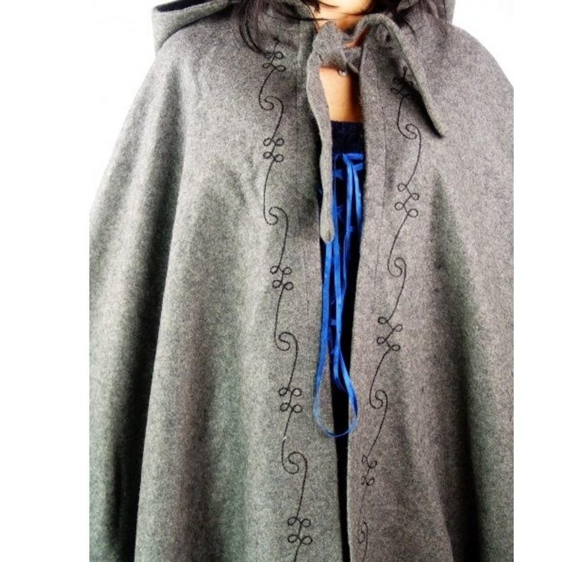 Leonardo Carbone Geborduurde mantel Damia, blauw