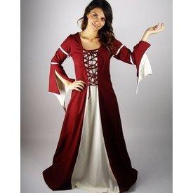 Dress Eleanora rosso-bianco