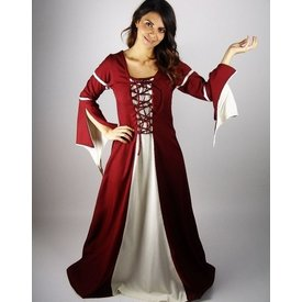 Kleid Eleanora rot-weiß