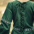 Leonardo Carbone Vestido Ivy, verde-blanco