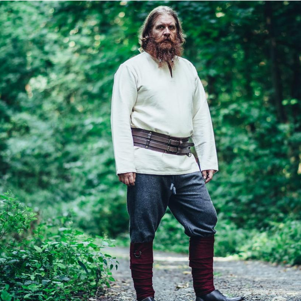 Leonardo Carbone Viking tunika Hans, naturalne