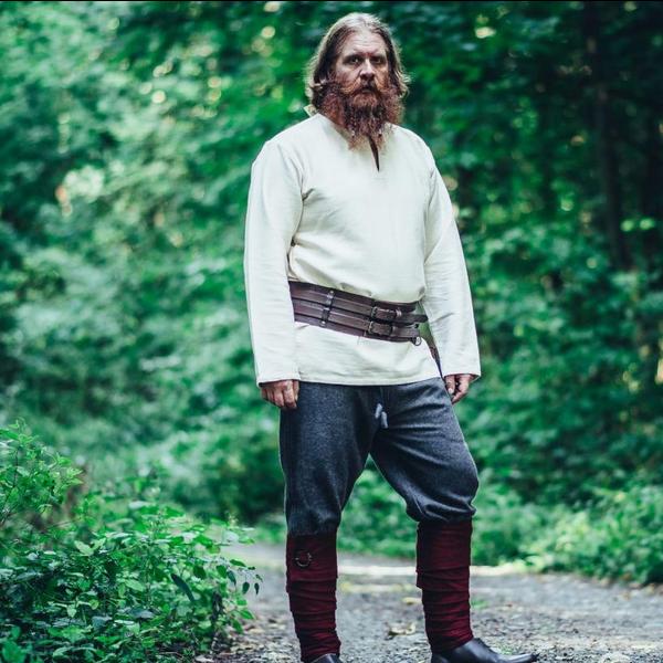 Leonardo Carbone Viking tunika Hans, naturlig