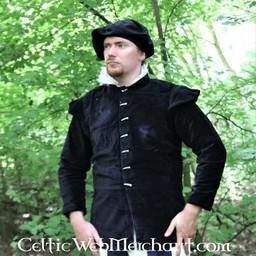 16th century doublet, black