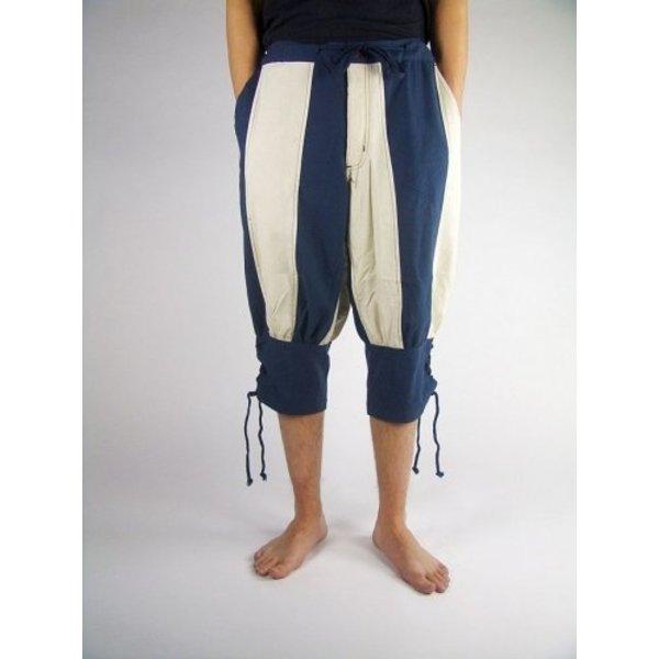 Pantalon Pavie, bleu-crème de couleur