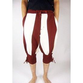 Pantaloni Pavia, rosso-crema colorata