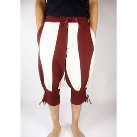 Pavia trousers, red-cream
