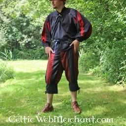 Pavia broek, zwart-rood