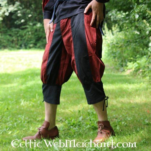 Pavia byxor, svart-röd