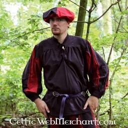 Pavia skjorta, svart-röd