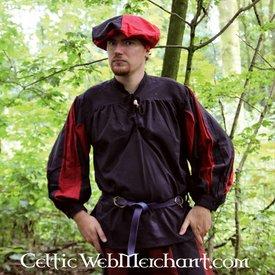 Pavia shirt, zwart-rood