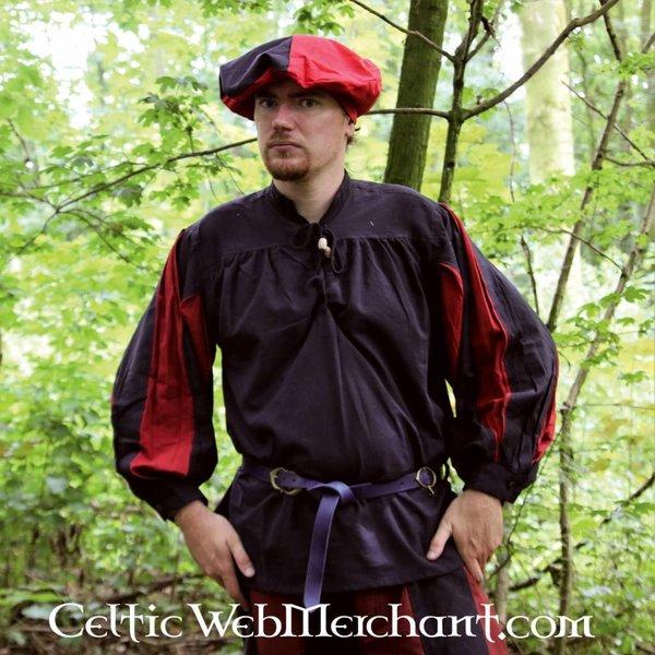 Leonardo Carbone Pavia skjorte, sort-rød