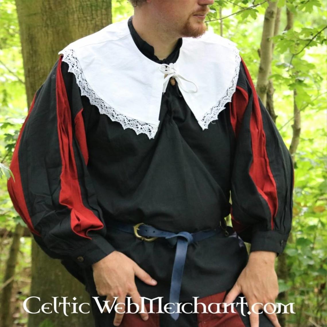 Leonardo Carbone Camisa Pavia, negro-rojo