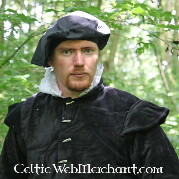 16th century doublet with removable sleeves, black