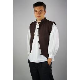 17th century sailor vest, brown