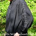 Leonardo Carbone Camisa pirata con cordones, negro