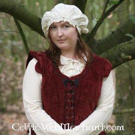 17th century cap, white