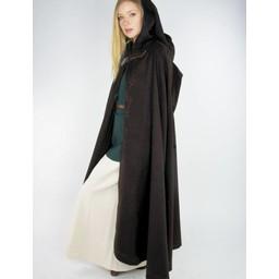 Embroidered cloak Damia with fibula, green