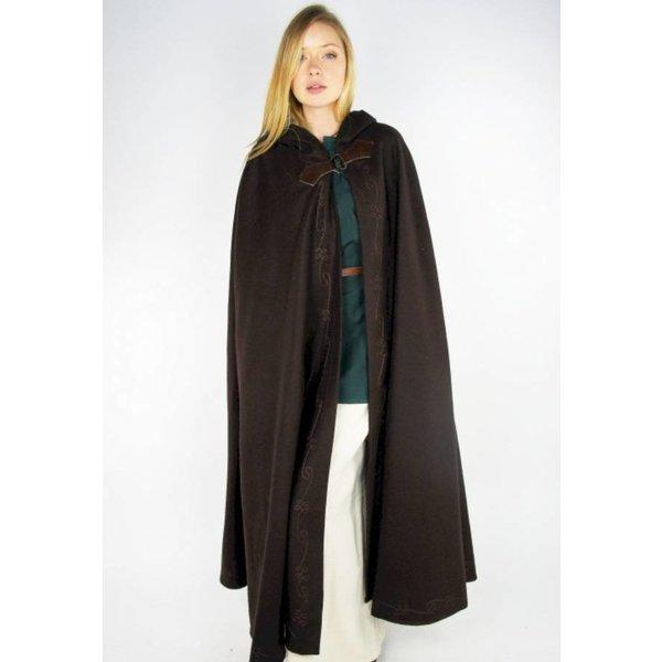Leonardo Carbone Broderade mantel Damia med fibula, grön