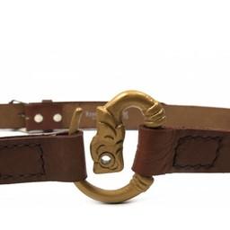 Cinturón viking con lobo, marrón