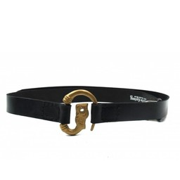 Cinturón viking con lobo, negro