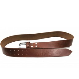 Cinturón celta con hebilla, marrón