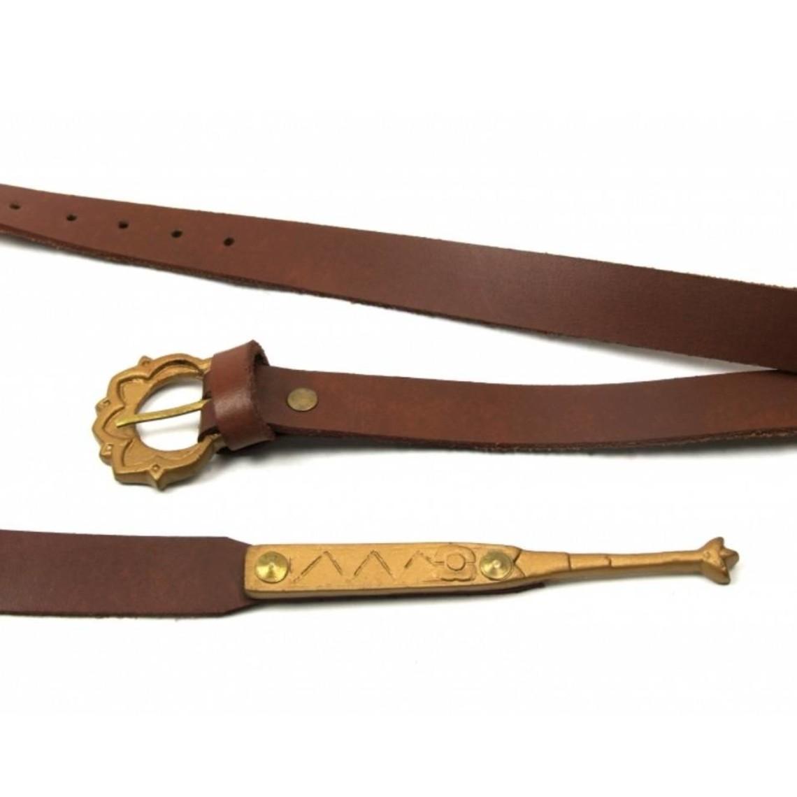 Leonardo Carbone Cinturón medieval Iseburgis, marrón
