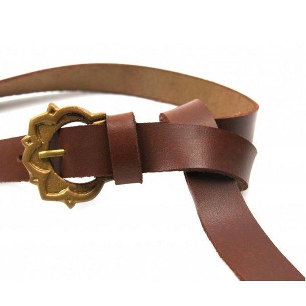 Medieval belt Iseburgis, brown