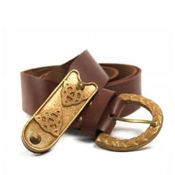 Keltische riem Cinaed, bruin