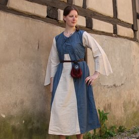 Dress Marigold, dark blue-cream