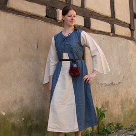 Klänning Marigold, mörkblå-kräm
