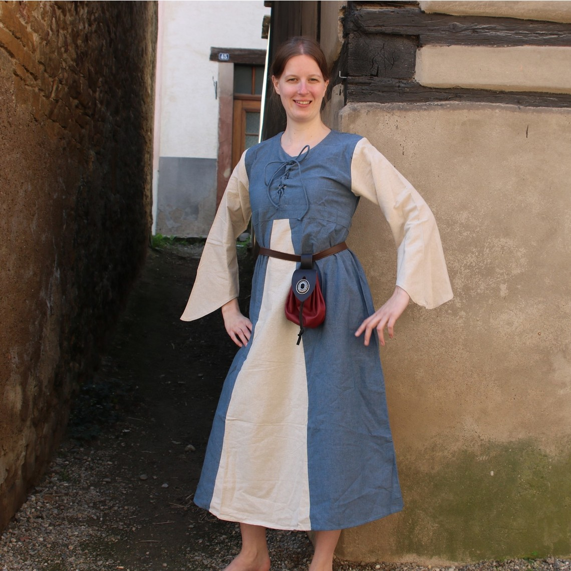 Leonardo Carbone Vestido Marigold, azul oscuro-crema