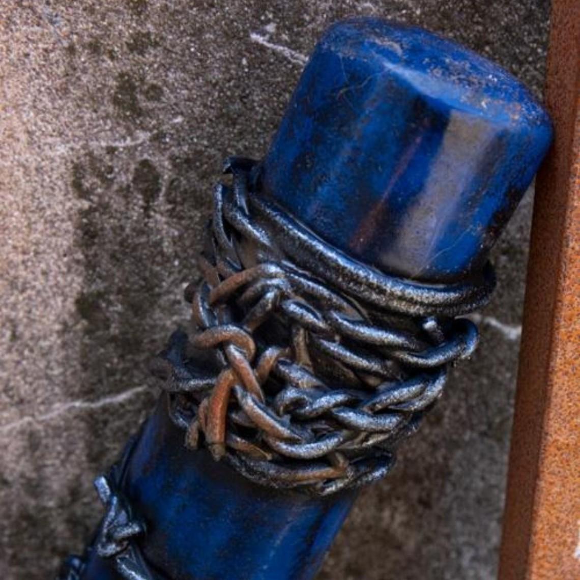 Epic Armoury LARP alambre de púas bate de béisbol, 80 cm, azul