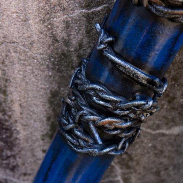Epic Armoury LARP Baseballschläger Stacheldraht, 80 cm, blau