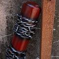 Epic Armoury GRV mazza da baseball filo spinato, 80 cm, rosso