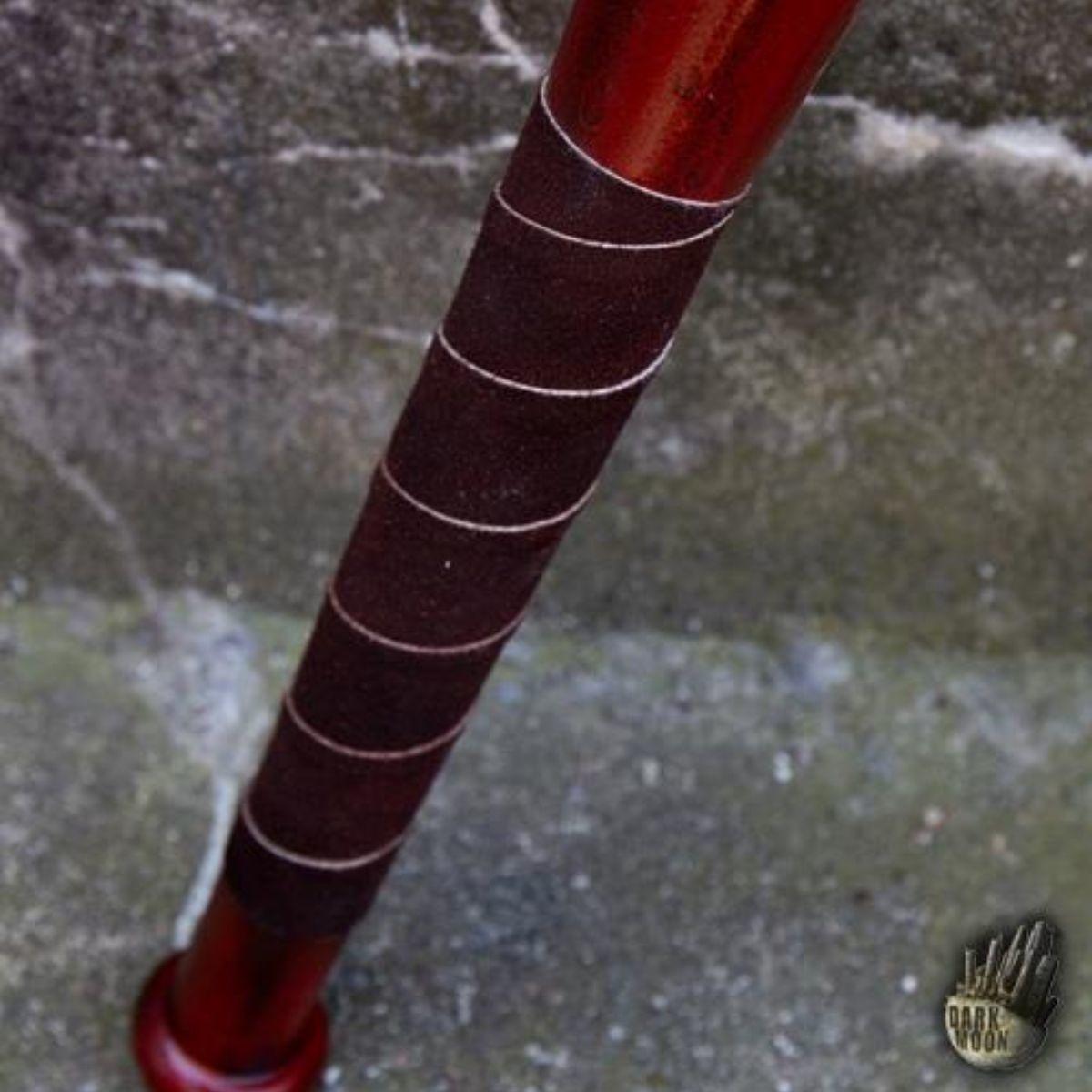 LARP Baseballschläger Stacheldraht, 80 cm, rot