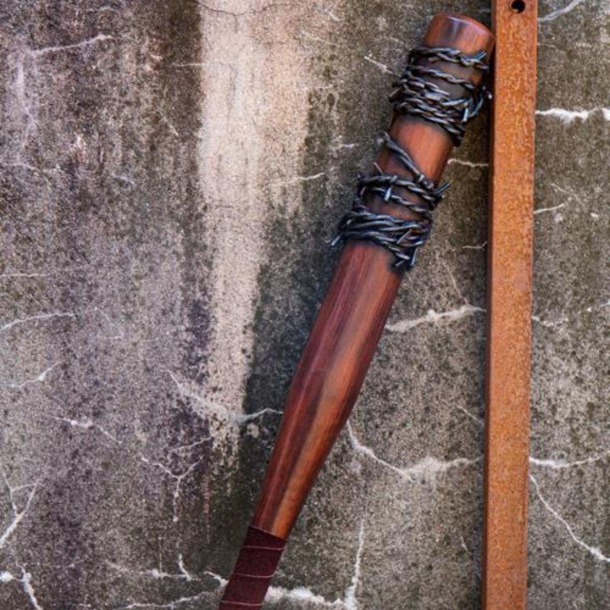 GRV mazza da baseball di filo spinato, 80 centimetri, in legno